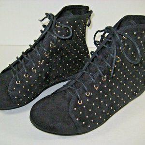 Italina Black Velveteen w/ Golden Beads Zip Back B